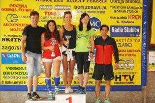 U glavnoj utrci, prvo mjesto osvojili Talijan Jacopo Butturini i Marija Lukina iz Gornje Stubice