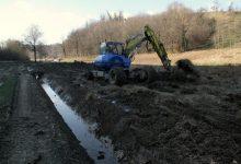 Iskopani odvodni kanali u blizini potoka Burnjak