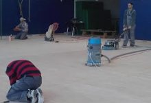Izmijenjen, prebrušen i prelakiran parket u sportskoj dvorani