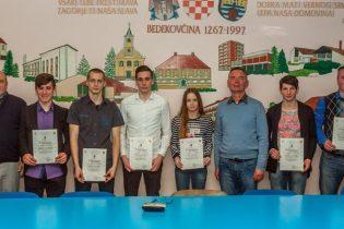 Najbolji sportaši općine Bedekovčina Diana Franke i Ivan Sovec