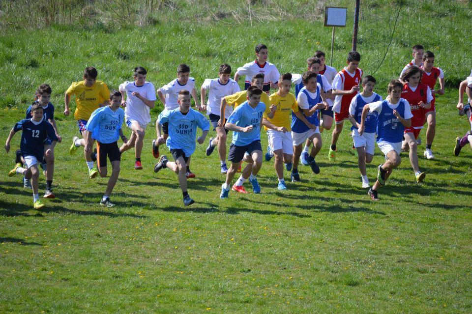 Dječaci iz OŠ Krapinske Toplice, u kategoriji 5. i 6. razreda, prvaci države u krosu