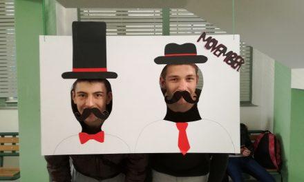 Učenici i nastavnici se simbolično fotografirali s brkovima, kako bi ukazali na opasnost od pojave raka prostate, drugog najčešćeg zloćudnog tumora u Hrvatskoj