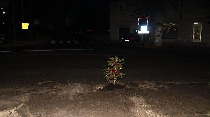 """ORIGINALNO POPUNIO RUPU NA CESTI: """"Ima vode, ima zemlje, pa možda i naraste. Ja sam ju lijepo zasadil..i nakitil. Sretan Božić…"""""""