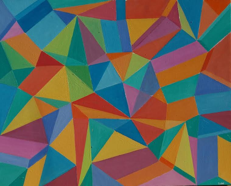 Izložba apstraktnih slika Josipa Rubesa