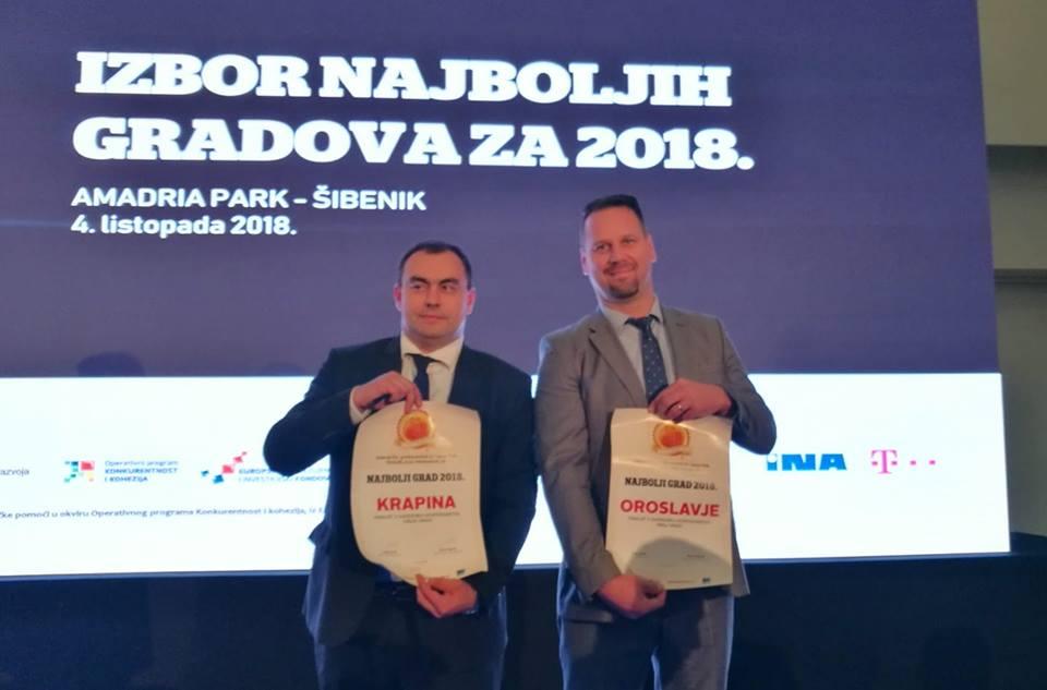 Na području gospodarstva najbolji su Krk, Sveta Nedjelja i Varaždin, Krapina na trećem, a Oroslavje na četvrtom mjestu