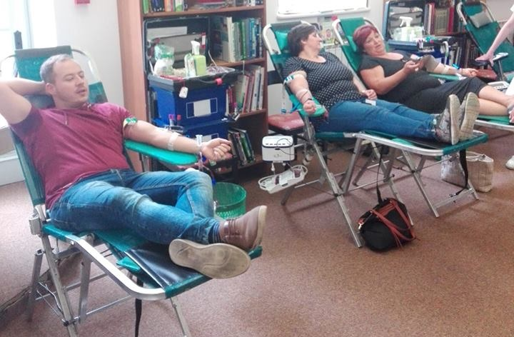 Krv darovalo 78 darivatelja, po prvi puta akciji se odazvali Marica Slovenec, Andrijana Fekeža i Kristijan Hercigonja