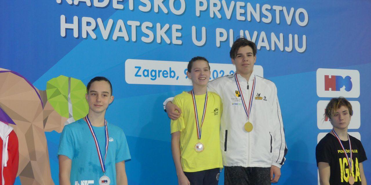 VELIKI USPJEH: Jana Pavalić i Patrik Erceg novi kadetski državni prvaci